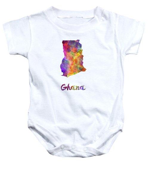 Ghana In Watercolor Baby Onesie