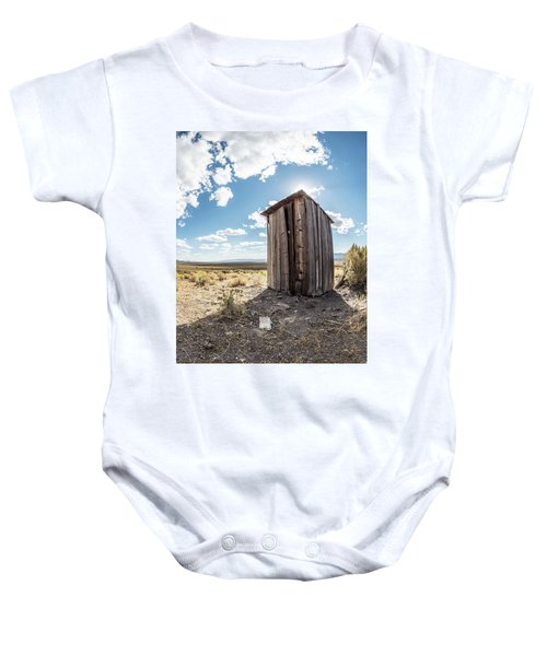 Ghost Town Outhouse Baby Onesie