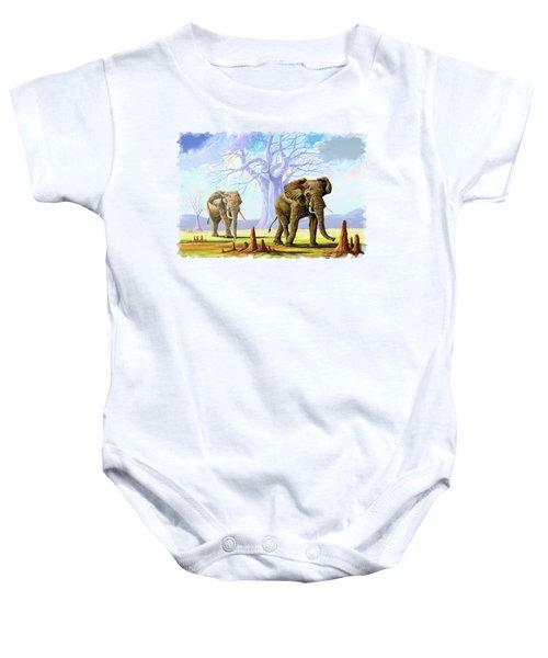 Giants And Little People Baby Onesie