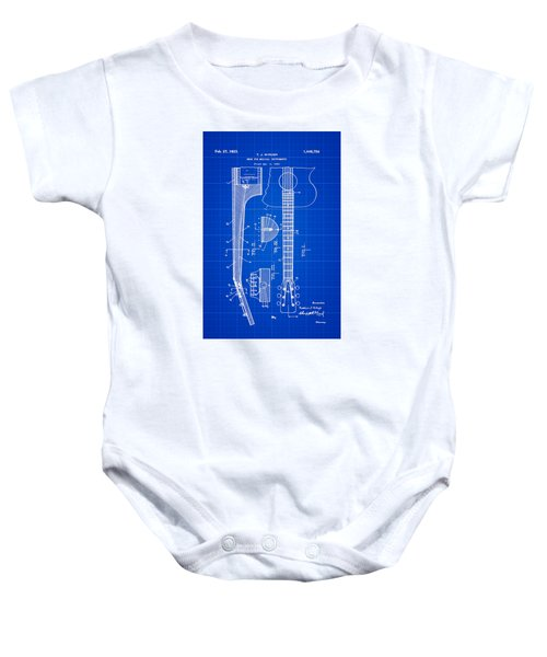 Gibson Guitar Patent 1923 Blue Print Baby Onesie