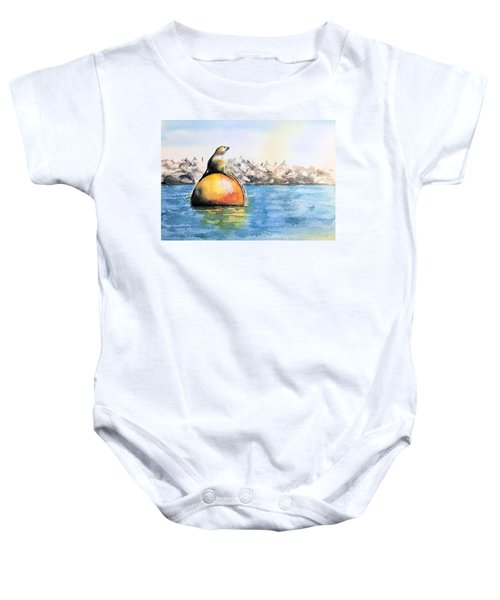 Girl And Buoy Baby Onesie