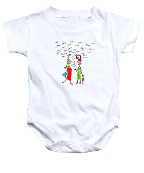 Girl Talk Baby Onesie by Karon Melillo DeVega