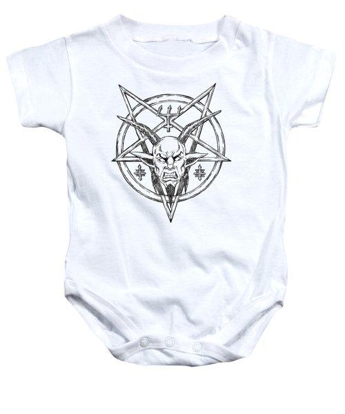 Goatlord Logo Baby Onesie by Alaric Barca