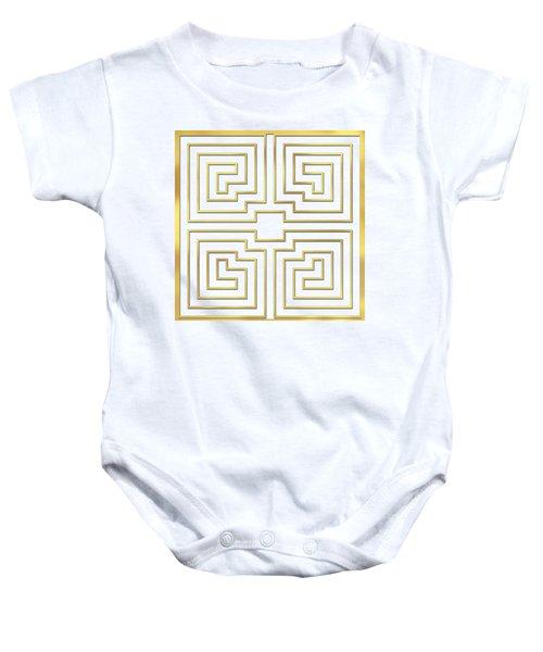 Gold Stripes Transparent Baby Onesie