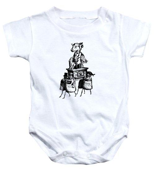 Golden Calf Grandville Transparent Baby Onesie