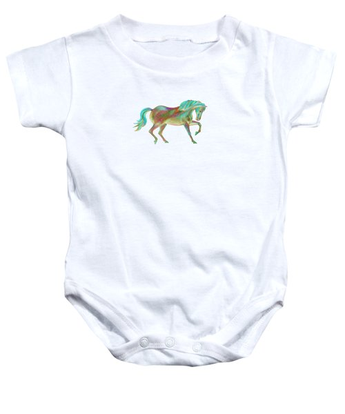 Golden Green Baby Onesie