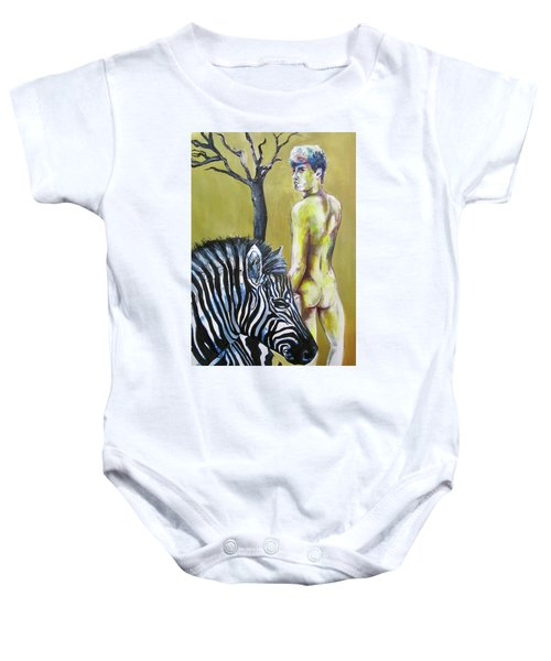 Golden Zebra High Noon Baby Onesie