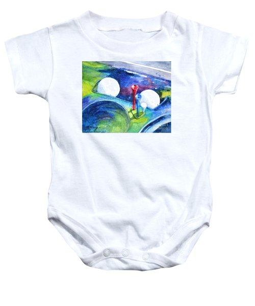 Golf Series - Back Safely Baby Onesie