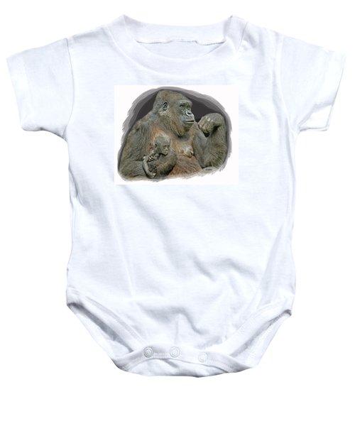 Gorilla Motherhood Baby Onesie