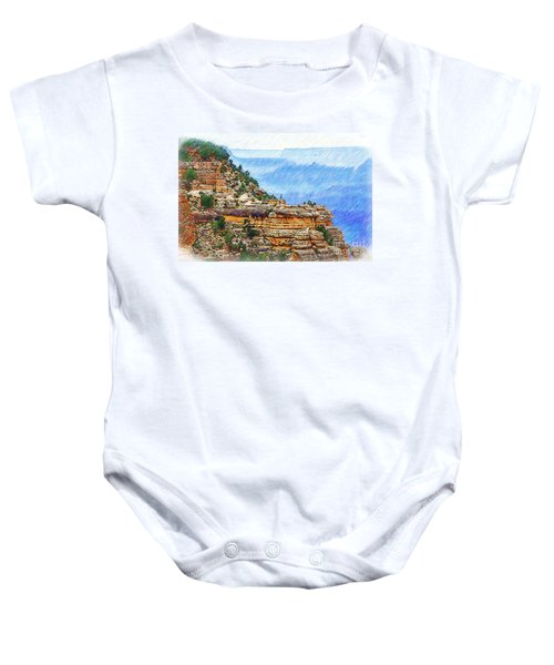 Grand Canyon Overlook Sketched Baby Onesie