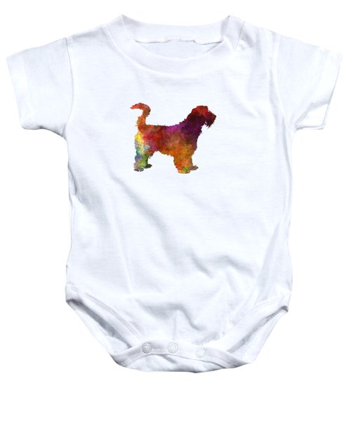 Grand Griffon Vendeen In Watercolor Baby Onesie