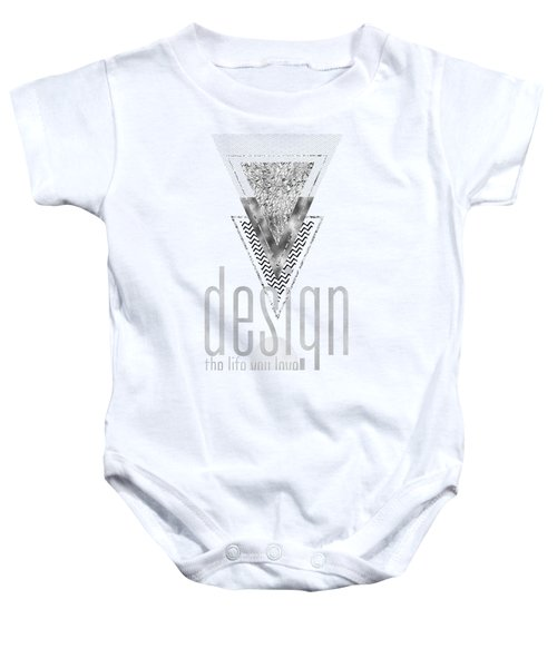 Graphic Art Design The Life You Love - Silver Baby Onesie