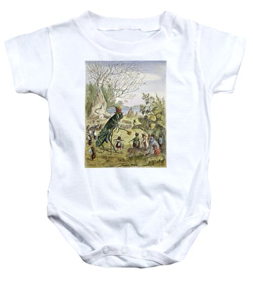Grasshopper And Ant Baby Onesie by Granger