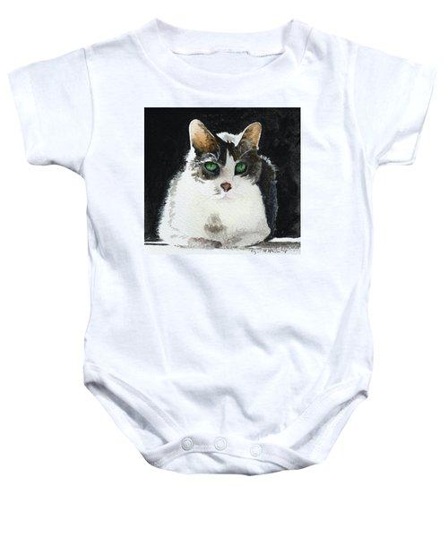 Gray Cat Baby Onesie
