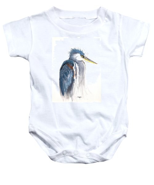 Great Blue Heron Baby Onesie