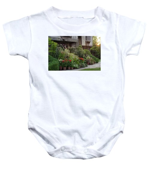 Great Dixter House And Gardens At Sunset 2 Baby Onesie