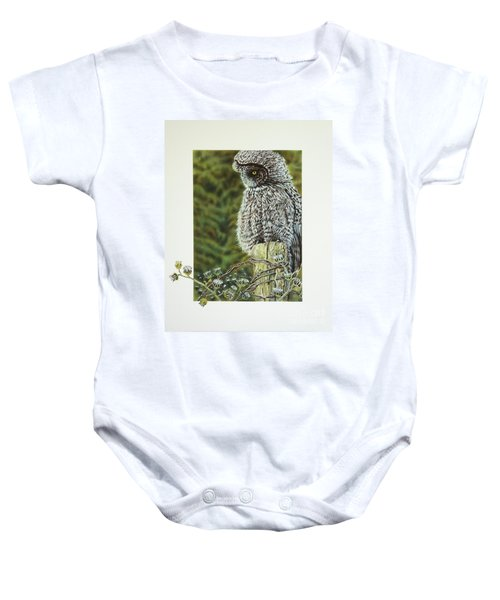 Great Grey Owl Baby Onesie