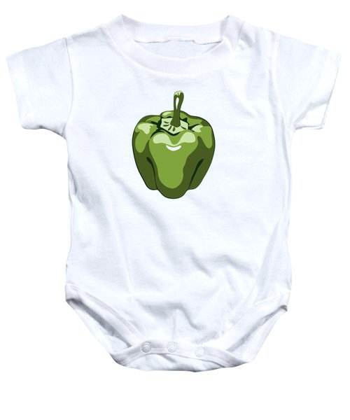 Green Bell Pepper Baby Onesie
