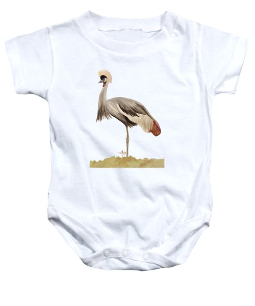 Grey Crowned Crane Baby Onesie