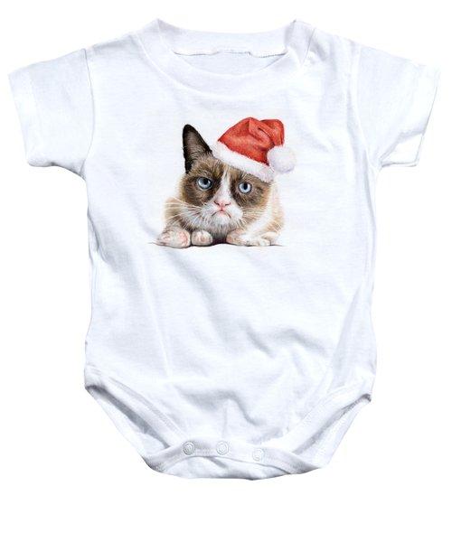 Grumpy Cat As Santa Baby Onesie