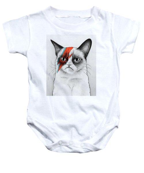 Grumpy Cat Portrait Baby Onesie