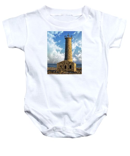 Gull Island Lighthouse Baby Onesie
