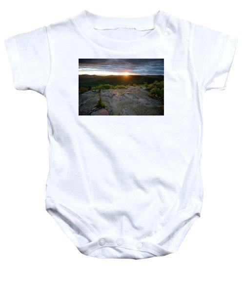 Hadley Mountain Sunset Baby Onesie