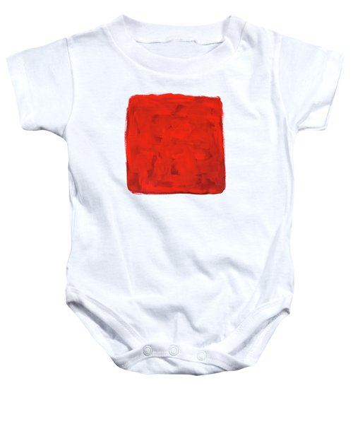 Handmade Vibrant Abstract Oil Painting Baby Onesie by GoodMood Art