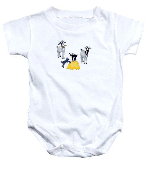 Happy Goats Baby Onesie by Sarah Rosedahl