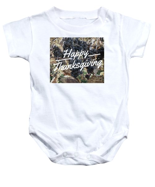 Happy Thanksgiving Baby Onesie