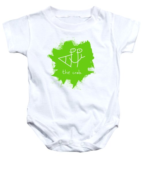 Happy The Crab - Green Baby Onesie
