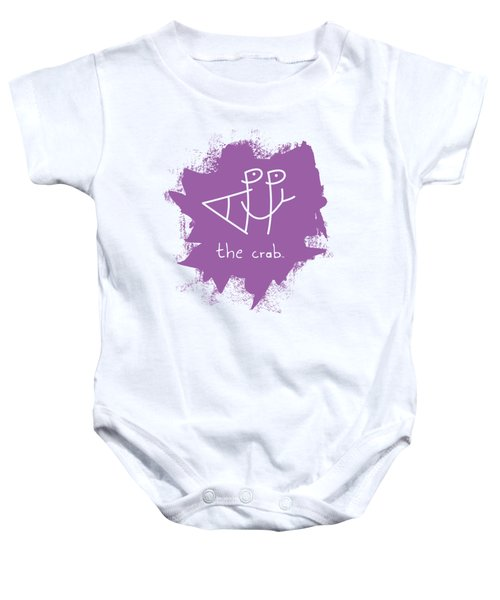 Happy The Crab - Purple Baby Onesie