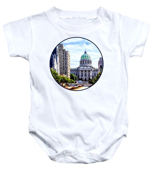 Harrisburg Pa - Capitol Building Seen From State Street Baby Onesie