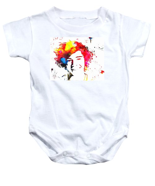 Harry Styles Paint Splatter Baby Onesie by Dan Sproul