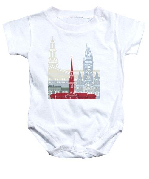 Harvard Skyline Poster Baby Onesie