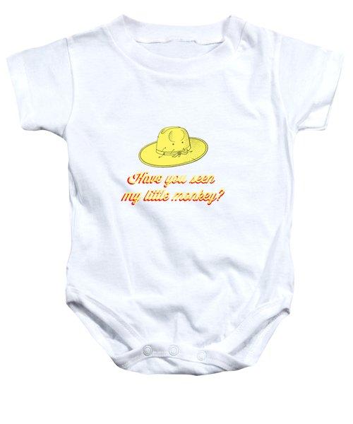 Have You Seen My Little Monkey Tee Baby Onesie by Edward Fielding