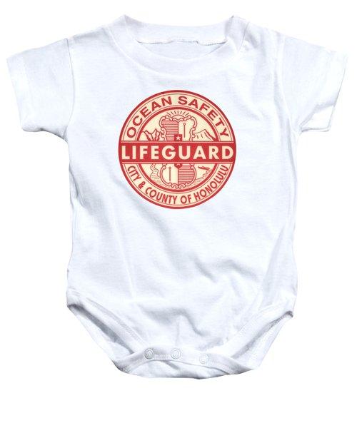 Hawaii Lifeguard Logo Baby Onesie