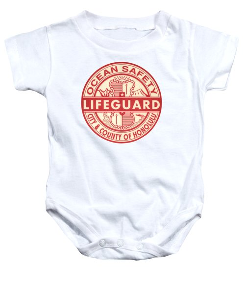 Hawaii Lifeguard Logo Baby Onesie