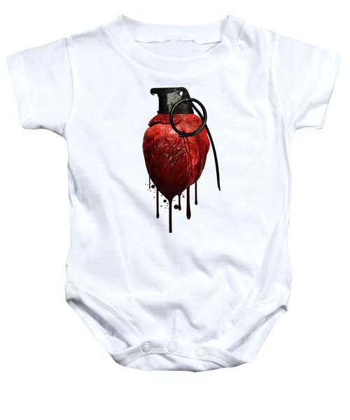 Heart Grenade Baby Onesie