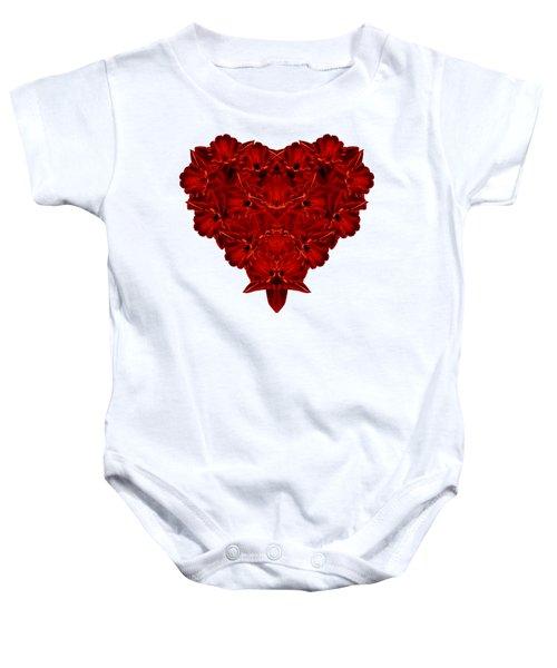 Heart Of Flowers T-shirt Baby Onesie by Edward Fielding