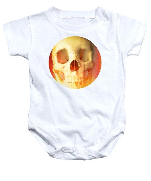 Hell Fire Skull Round Beach Towel Blanket Baby Onesie