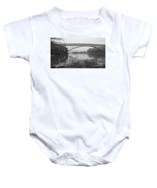 Henry Hudson Bridge  Baby Onesie by Cole Thompson