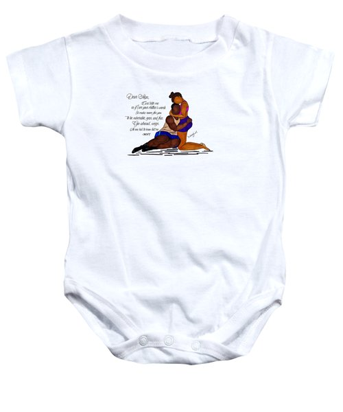 Here For You Baby Onesie by Diamin Nicole