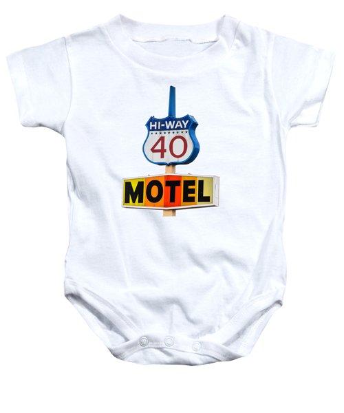 Hi-way 40 Motel Baby Onesie