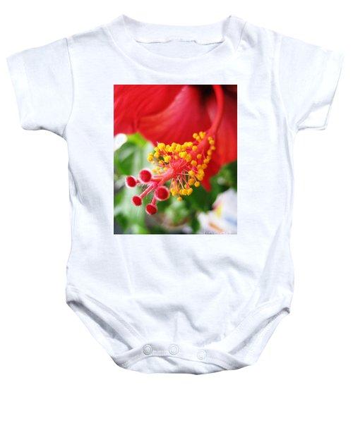 Hibiscus #3 Baby Onesie