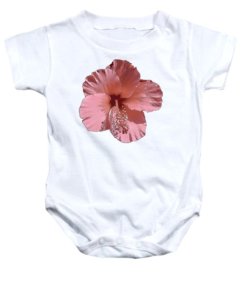 Hibiscus  Flower  Baby Onesie