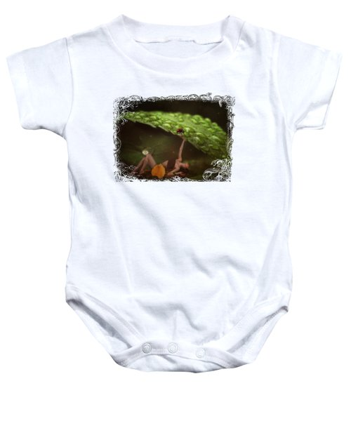 Hiding From The Storm Baby Onesie by Terry Fleckney