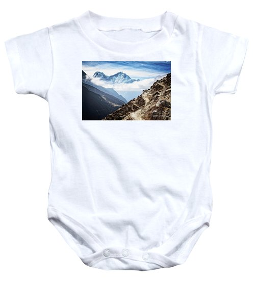 High In The Himalayas Baby Onesie