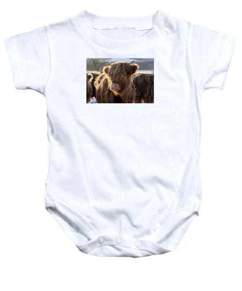 Highland Baby Coo Baby Onesie by Jeremy Lavender Photography