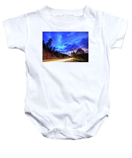 Baby Onesie featuring the photograph Highway 7 To Heaven by James BO Insogna